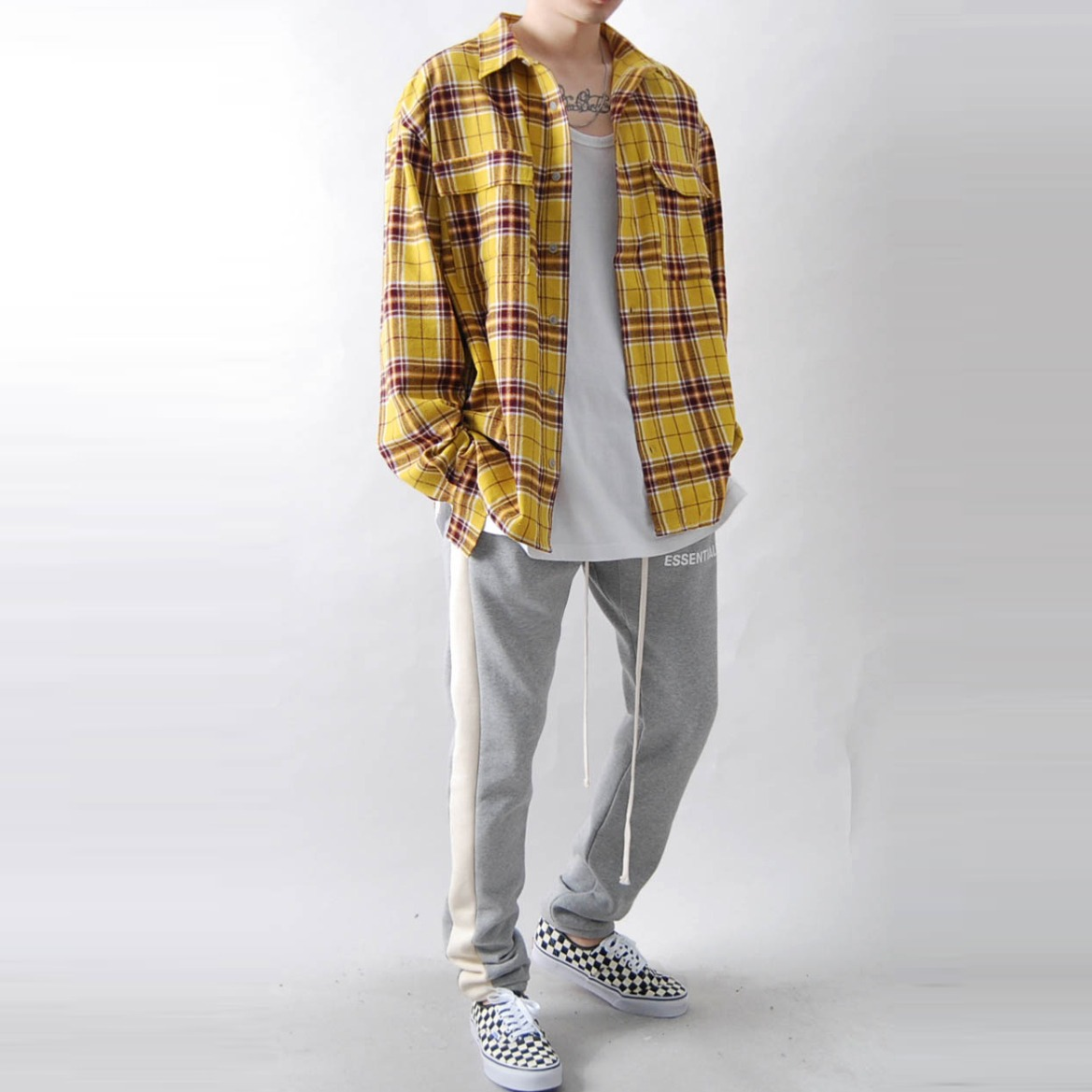 19 S/S 피어 오버핏 체크셔츠 - FEAR OVER CHECK SHIRT (2 COLOR)