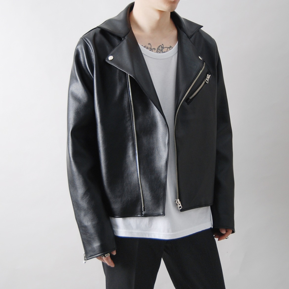ACN 깁슨 라이더 자켓 - ACN GIBSON LEATHER JACKET